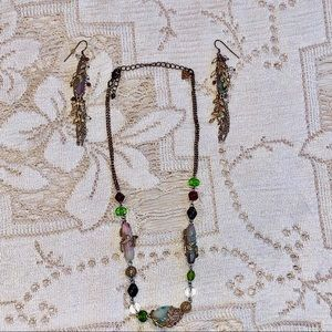 Cookie lee adjustable necklace and earrings